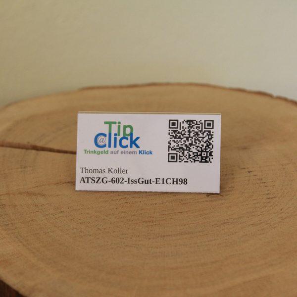 Tip@Click Anstecknadel mit Firmenbezeichnung