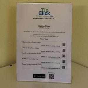 15 Tip@Click Firmen-UserIDs inkl. 1 Aufsteller